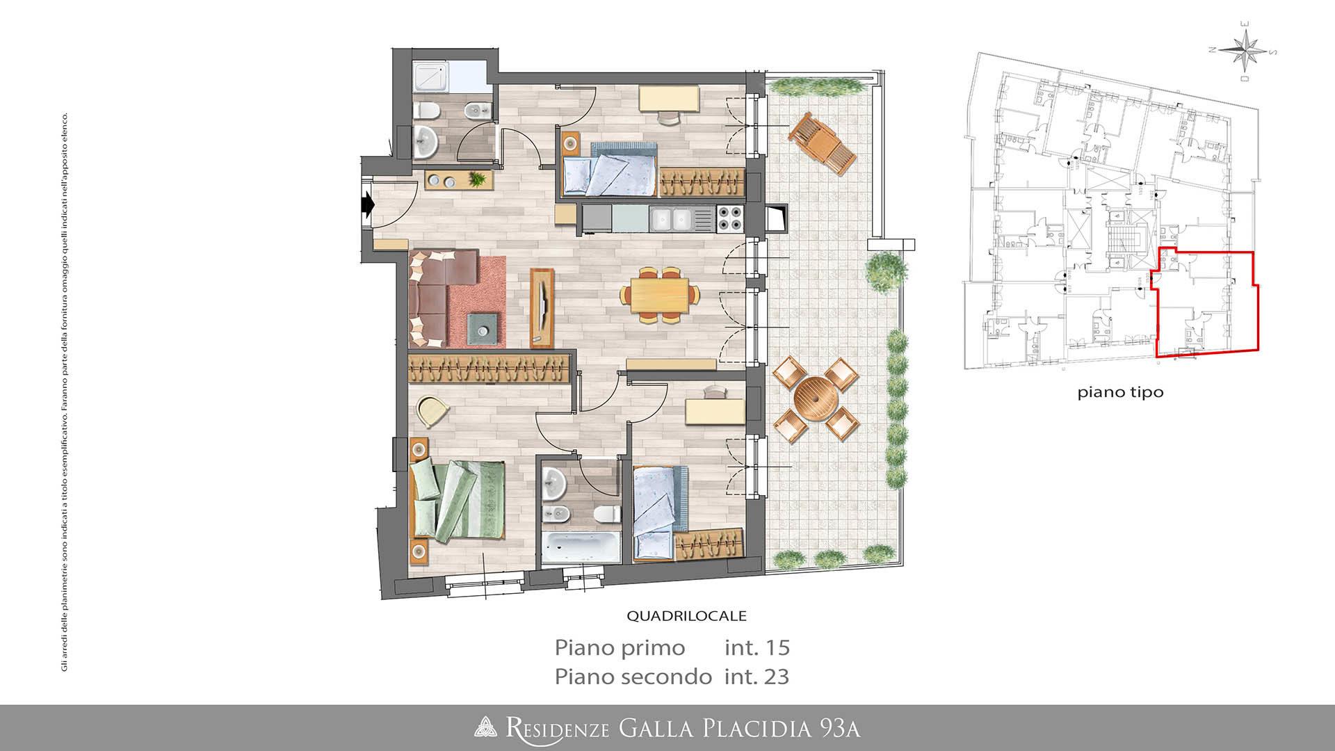 Case Con Terrazzo Roma appartamento quadrilocale – 94mq con terrazzo - residenze