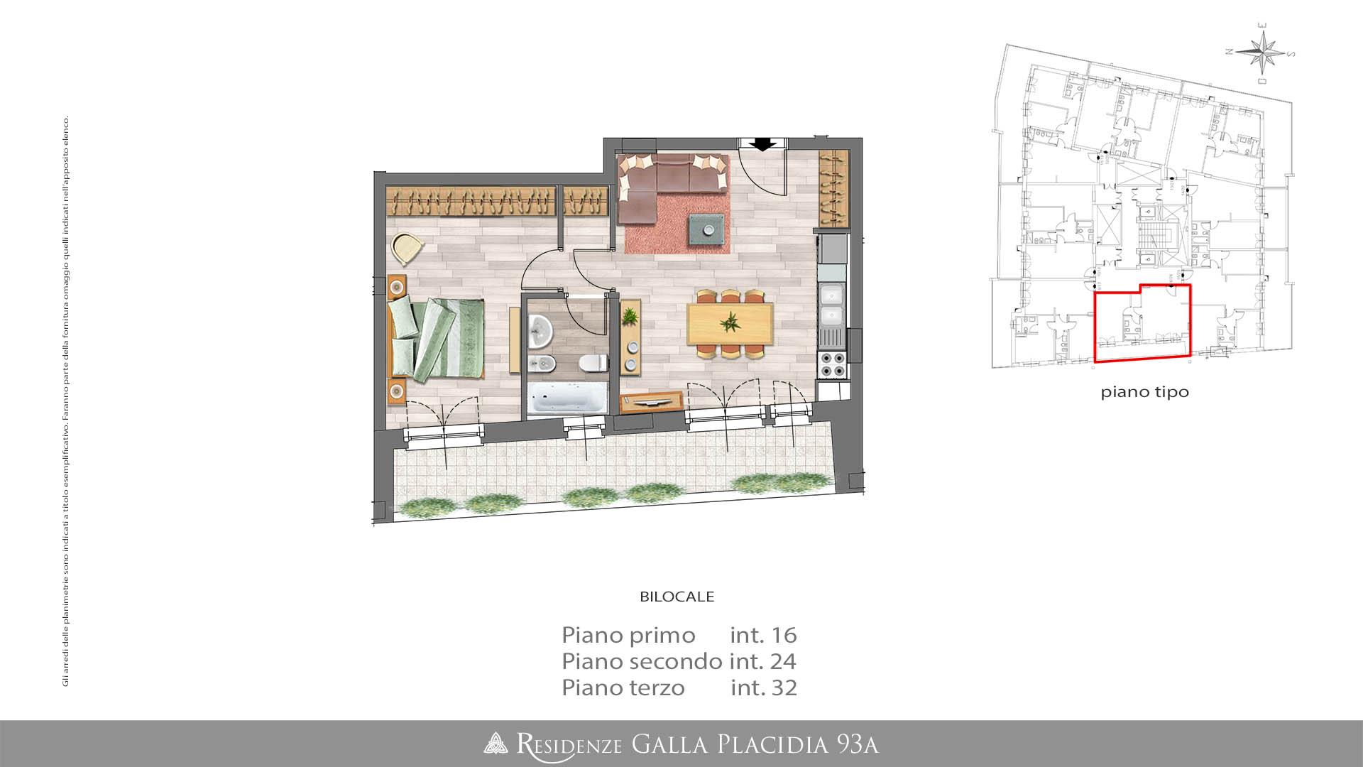 Casa 60 Mq Pianta appartamento bilocale – 60mq commerciali - residenze immobiliare