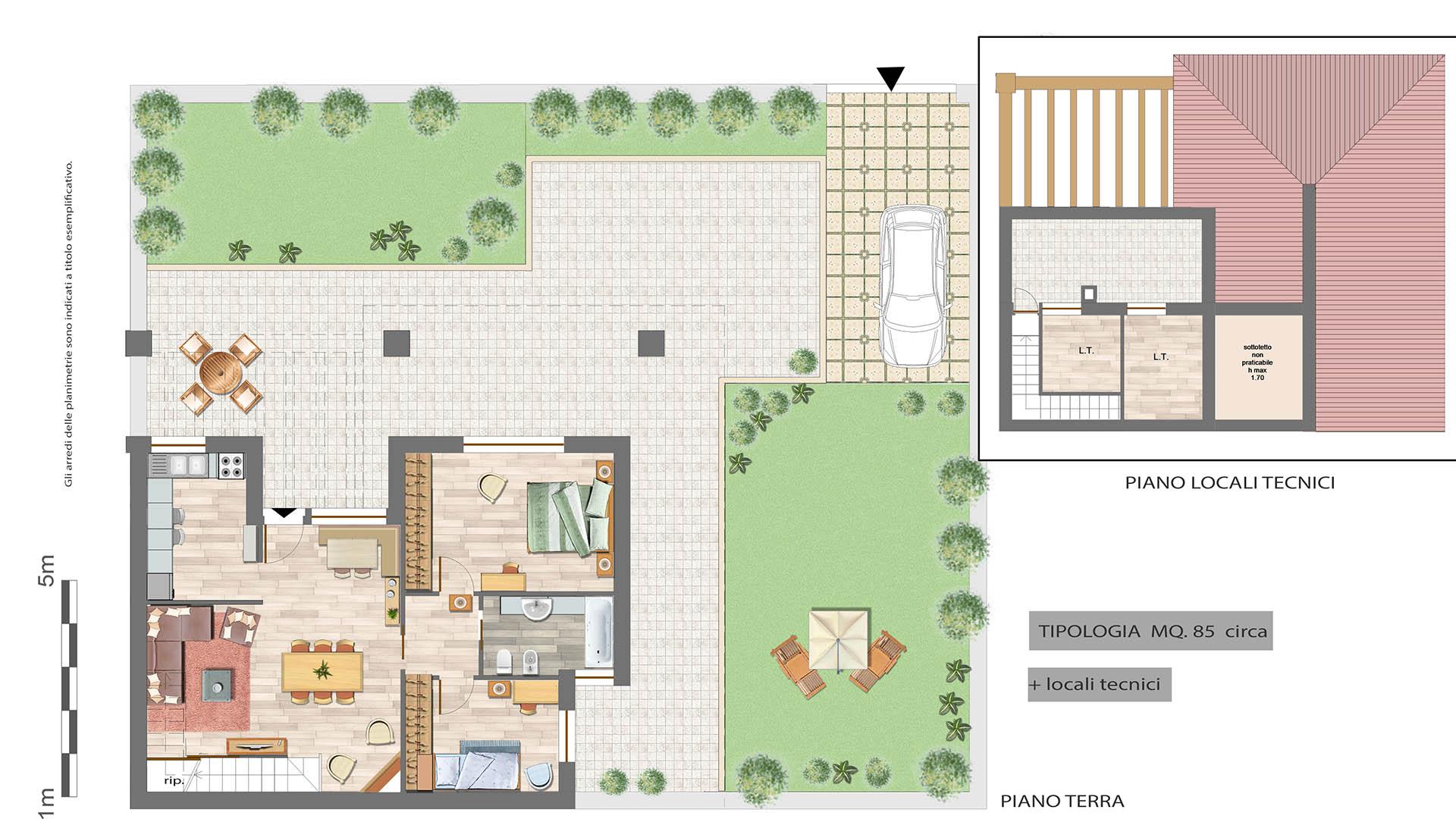 Progetto Casa 85 Mq villino in quadrifamiliare su due livelli - 130 mq con