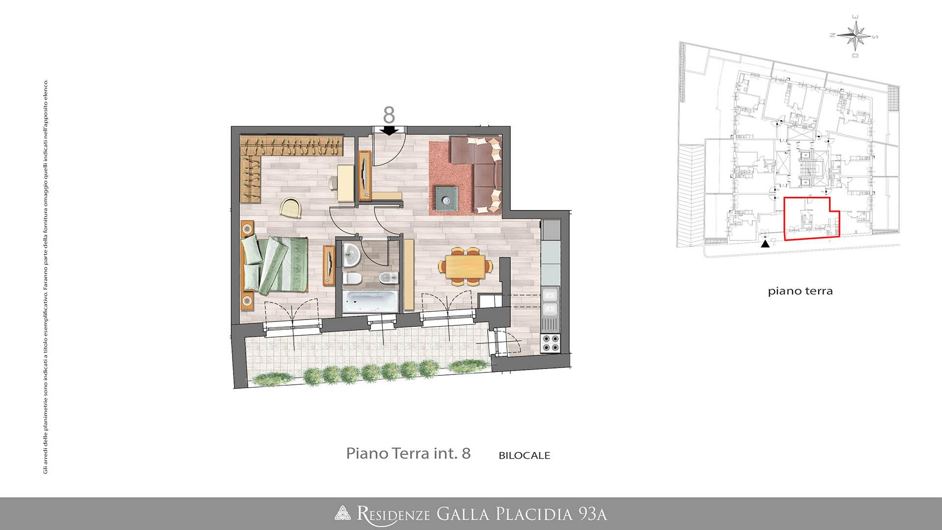 Casa 60 Mq Pianta vendita appartamento bilocale piano terra – 60mq commerciali